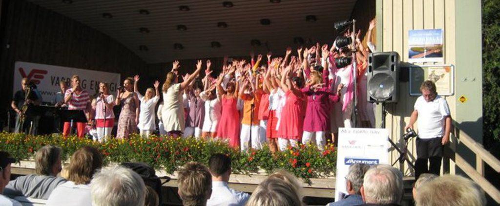 Augusti 2010 under ledning av Anna Kallweit och Lena Kristensson. Vi samlade pengar till ett barnhem i Indien.